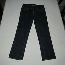 American Eagle Women's Artist Capri Blue Denim Jeans Size 00 Waist 25