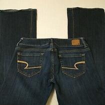American Eagle Women's Jeans Size 4 Regular Artist Stretch Blue Low Rise 28x30 Photo
