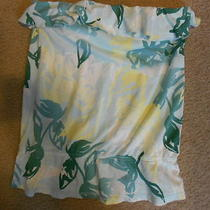 American Eagle Women's Medium Juniors Strapless Tank Top Blouse Aqua Floral Photo