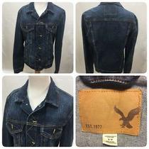 American Eagle Women's Size Small Denim Jean Jacket Wash Medium Blue Button Up  Photo