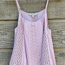 American Eagle Women's Soft & Sexy Tank Top Size L Large Blush Pink Eyelet Cami Photo