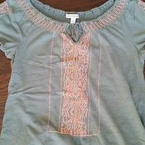 American Eagle Women Small Pheasant Top Green Photo