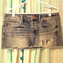 American Eagle Womens Denim Mini Skirt Size 10 Photo