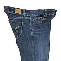 American Eagle Womens Favorite Boyfriend Super Stretch Blue Jeans Low Size 4 S Photo