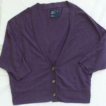 American Eagle Womens Purple Batwing Cardigan Sweater M Medium Euc Photo