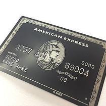 American Express Centurion Black Card - Metal & Embossed  Photo