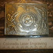 American Express Co. Safety & Dispatch Indian Territories Vintage Belt Buckle Photo
