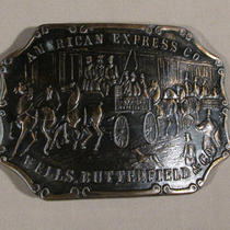 American Express Co. Vintage Advertising Belt Buckle Wells Butterfield & Co  Photo