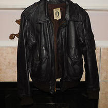 American Express Company by First Pullman Corporation Leather Flight Jacket 42 Photo
