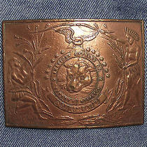 American Express Safety Dispatch Colorado Eagle Fantasy Belt Buckle Vtg Repro  Photo