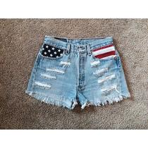 American Flag High Waisted Shorts Size 27 Photo