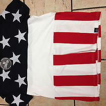 American Flag T-Shirt Stripes and Embroidered Stars  by Hudson  Photo
