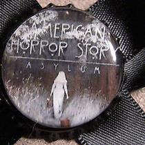 American Horror Story Asylum on a Black Satin Bow Hair Clip Fantasy Tv Punk Goth Photo