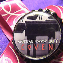 American Horror Story Coven Pink & White Abstract Bow Hair Clip Fantasy Tv Witch Photo