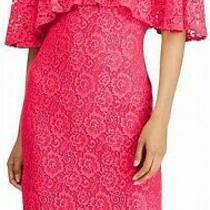American Living Women's Dress Rose Bloom Pink Size 4 Shift Overlay Mini 99 153 Photo
