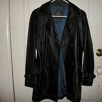 American Modern Alexander Julian Genuine Lamb  Leather Black Jacket S Photo