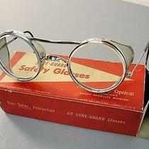 American Optical Steampunk Safety Glass Chrome Goggles New in Box Antique Vintag Photo