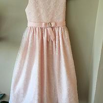 American Princess Sz 10 Blush Pink Dress W/sheer Overlay Wedding Dance Pageant Photo
