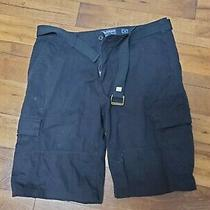 American Rag Black Relaxed Fit Cargo Shorts With Belt Size 38  Photo
