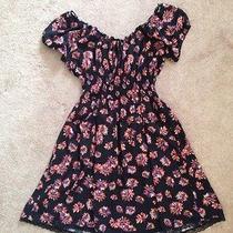 American Rag Black Sunflower Dress (Size m) Photo