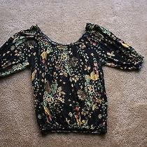 American Rag Boho Hippy Stretch Shirt. Floral Pattern. Medium. Free Shipping Photo