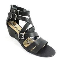 American Rag Carlin Black Wedge Sandals Size 6.5 Photo