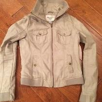 American Rag Cie Antique White Faux Leather Jacket Size Small Photo