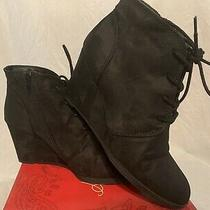 American Rag Cie Baylie Wedge Ankle Boots - Size 8 - Black - Euc Photo