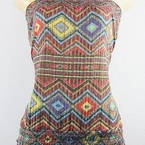 American Rag Cie Strapless Top Multi-Color Size L Lulu Photo