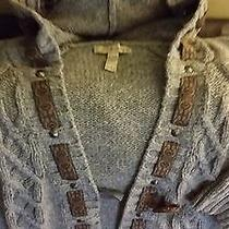 American Rag Cie Womens Grey Cable Cardigan Photo