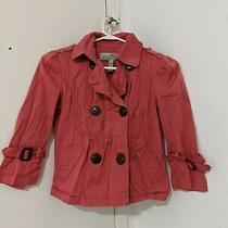 American Rag Crop Trench 3/4 Sleeve Jacket Coat Xs Photo
