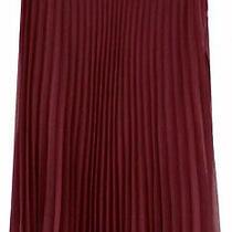 American Rag Dark Burgundy Chiffon Light Accordian Pleated Midi-Skirt Juniors 1 Photo