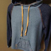 American Rag Floral Trim Hooded Hoodie Sweatshirt Pullover Sz M            S53 Photo