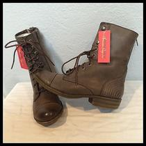 American Rag Kadet Combat Boots Taupe Sz 7m Military Ankle Fashion Booties Shoes Photo