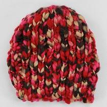 American Rag Knit Beanie Hat Red Multi-Color Photo