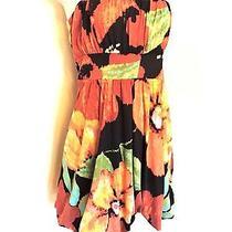 American Rag  M  Bright Colorful Strapless Tie Waist Bubble Sun Dress Photo