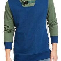 American Rag Men Hoodie Green Blue Size Small S Colorblocked Sweatshirt 45 207 Photo