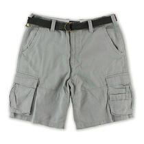 American Rag Mens Belted Edv Casual Cargo Shorts Griffin 30 Photo