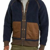 American Rag Mens Jacket Blue Size Small S Zip Sherpa Stand Collar 80 190 Photo