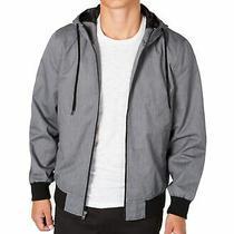 American Rag Mens Jacket Gray Size 2xl Corgan Hooded Full Zip Bomber 70 130 Photo