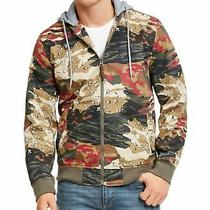 American Rag Mens Jacket Green Size 2xl Camo Print Bomber Full Zip 90 003 Photo