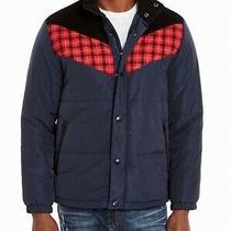American Rag Mens Jacket Navy Blue Size 2xl Zip Button Snap Puffer 120 221 Photo