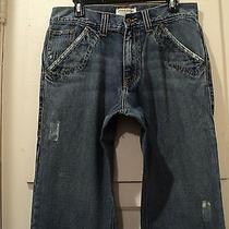 American Rag Mens Jeans/back Snap Pockets(tag32x32)(Taped33x31)unique/rare Photo