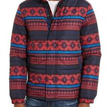 American Rag Mens Puffer Jacket Blue Red Size Xl Montana Stripe Zip-Up 120 081 Photo