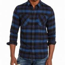 American Rag Mens Shirt Blue Size Xs Ls Button Down Jason Plaid 2.0 45 122 Photo