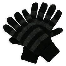 American Rag Mens Striped Knit Gloves Greyblack One Size Photo