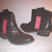 American Rag New Brown Women's Shoes Size 9m Ankle Cowboy Western Boots New Photo