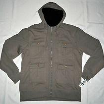 American Rag New Gray Mens Size Xl Hooded Fashion Fleece Cargo Parka Jacket/coat Photo