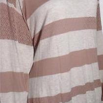 American Rag Plus Size 2x Lightweight Long Sleeve Stripe Pointelle Sweater New Photo