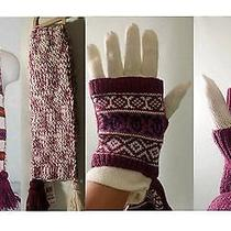 American Rag Reverse Navajo Winter Scarf/ Mittens Set  - New With Tags Photo